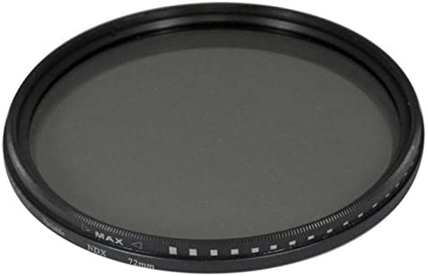 52mm Variable NDX Fader Filter ND2 - ND1000 for Canon, Nikon, FujiFilm, Olympus, Panasonic, Pentax, Sigma, Sony, Tamron Cameras and Camcorders
