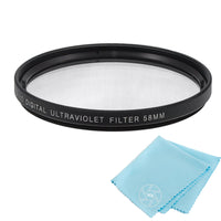 58mm UV Protective Filter for Canon, Nikon, FujiFilm, Olympus, Panasonic, Pentax, Sigma, Sony, Tamron Cameras and Camcorders