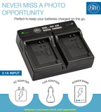 BM 2 NB-13L Batteries and Dual Charger for Canon G1 X Mark III G5 X Mark II G7 X Mark II, G7 X Mark III, G9 X Mark II, SX620 SX720 SX740 HS Cameras