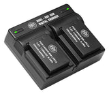 BM Premium 2-Pack of LP-E12 Batteries and Dual Battery Charger for Canon SX70 HS Rebel SL1 EOS-M, EOS M2, EOS M10, EOS M50, EOS M100, EOS M200 Cameras