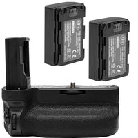 Battery Grip Kit for Sony Alpha A9, A7III, A7RIII Digital SLR Cameras - Includes Qty 2 BM NP-FZ100 Batteries + VG-C3EM Replacement Battery Grip