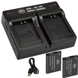 BM 2 NB-11LH Batteries and Dual Battery Charger for Canon Elph 110, Elph 130, Elph 135, Elph 140, Elph 150, Elph 160, Elph 170, Elph 180 Cameras