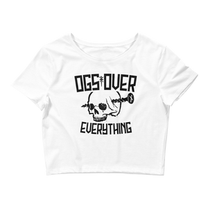 OGs Over Everything Crop Top (White)