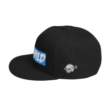 Load image into Gallery viewer, Madchild OG Logo Snapback Hat (Black/Blue)