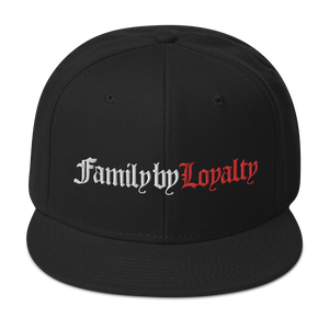 Family By Loyalty Snapback Hat (Black/Red)