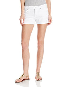 7 For All Mankind Women's Denim Shorts, Roll Up - Midnight Rain, 28 - Nerds Guide to FI