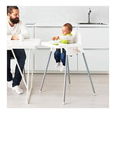 Load image into Gallery viewer, Ikea's ANTILOP Highchair with safety belt, white, silver color and ANTILOP Highchair tray, white - Nerds Guide to FI