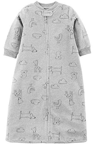 Carter's Unisex Baby Fleece Sleepbag Sleepsuit, Grey Animals, Medium 6-9 Months - Nerds Guide to FI
