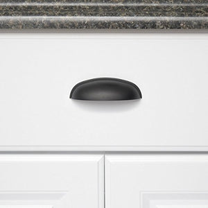 AmazonBasics Modern Bin Cup Drawer Pull, 4.13-inch Length (3-inch Hole Center), Flat Black, 10-Pack - Nerds Guide to FI