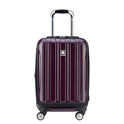 DELSEY Paris Helium Aero Hardside Expandable Luggage with Spinner Wheels, Plum Purple, Carry-On 19 Inch - Nerds Guide to FI