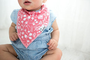 "Baby Bandana Drool Bibs for Drooling and Teething 6 Pack Gift Set for Girls ""Amelia Set"" by Copper Pearl - Nerds Guide to FI"