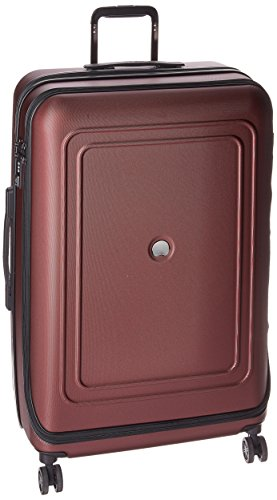 DELSEY Paris Cruise Lite Hardside 25 inch Expandable Spinner Suitcase with Lock, Black Cherry, One Size - Nerds Guide to FI