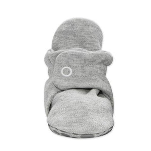 Zutano Cotton Baby Booties with Cotton Lining and Grippers, Unisex, For Newborns, Infants, Babies, and Toddlers, Gray Heather, 18M - Nerds Guide to FI
