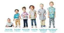 Load image into Gallery viewer, Bumkins Junior Bib / Short Sleeve Toddler Bib / Smock 1-3 Years, Waterproof, Washable, Stain and Odor Resistant –  Watercolor - Nerds Guide to FI