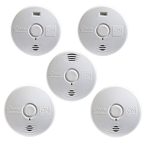Kidde 21010613 Worry Free 10-Year Battery Operated Full Home 5-Pack (4 Smoke alarms, 1 Combo Smoke/CO alarm) - Nerds Guide to FI