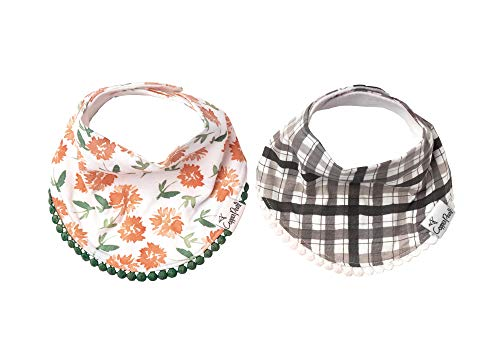 "Baby Bandana Drool Bibs for Drooling and Teething 2-Pack Fashion Bibs Gift Set for Girls ""Hazel"" by Copper Pearl - Nerds Guide to FI"
