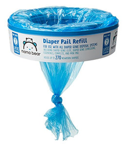 Amazon Brand - Mama Bear Diaper Pail Refills for Diaper Genie Pails, 1080 Count (Pack of 4) - Nerds Guide to FI