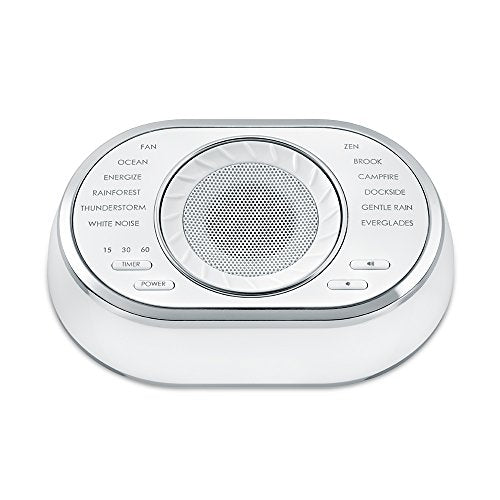 Ultra-Portable Rechargeable Sound Machine | 12 Relaxing Sleep Sounds , Auto-Off Timer, Adjustable Volume | Portable Sleep Therapy for Home , Office , Baby & Travel | HoMedics SoundSpa - Nerds Guide to FI