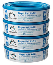 Load image into Gallery viewer, Amazon Brand - Mama Bear Diaper Pail Refills for Diaper Genie Pails, 1080 Count (Pack of 4) - Nerds Guide to FI