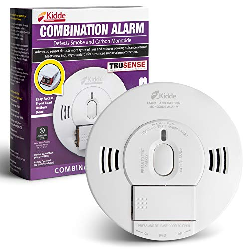 Kidde 21028499 DC Smoke and Carbon Monoxide Alarm Detector with TruSense Technology | Front Load Battery | Voice Notification | Model 2070-VDSCR, White - Nerds Guide to FI