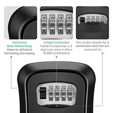 Load image into Gallery viewer, ORIA Key Storage Lock Box, Wall Mounted Key Lock Box with 4 Digit Combination, Holds up to 5 Keys, for House Keys or Car Keys, Black - Nerds Guide to FI