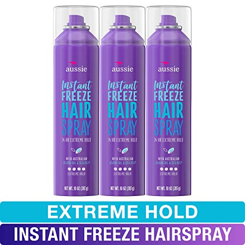 Aussie, Hairspray, with Jojoba & Sea Kelp, Strong Hold, 10 fl oz, Triple Pack - Nerds Guide to FI