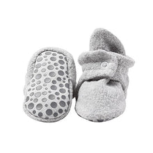 Load image into Gallery viewer, Zutano Cozie Fleece Baby Booties with Cotton Lining and Grippers, Unisex, For Infants, Babies, and Toddlers, Heather Gray, 18M - Nerds Guide to FI
