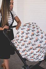 "Load image into Gallery viewer, Baby Car Seat Cover Canopy and Nursing Cover Multi-Use Stretchy 5 in 1 Gift""Hunter"" by Copper Pearl - Nerds Guide to FI"