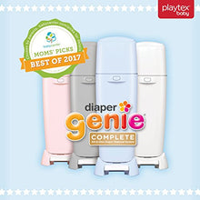 Load image into Gallery viewer, Playtex Diaper Genie Complete Pail with Built-In Odor Controlling Antimicrobial, Includes Pail & 1 Refill, White - Nerds Guide to FI