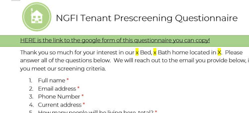 NGFI Tenant Pre-Screening Questionnaire - Nerds Guide to FI
