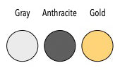 Button Anthracite Gold Gray