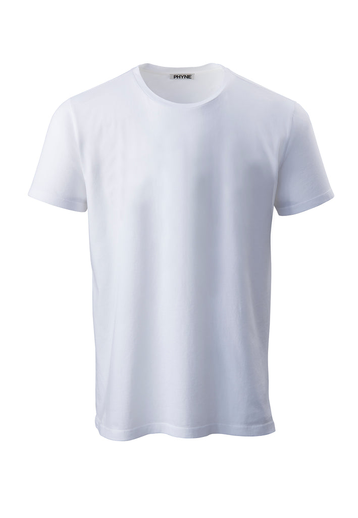 White| Round Neck T-Shirt weiß