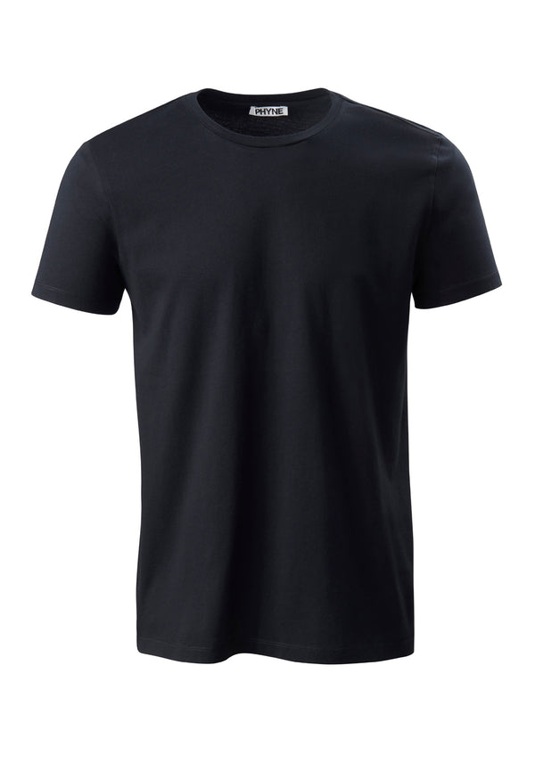 Black| Round Neck T-Shirt schwarz