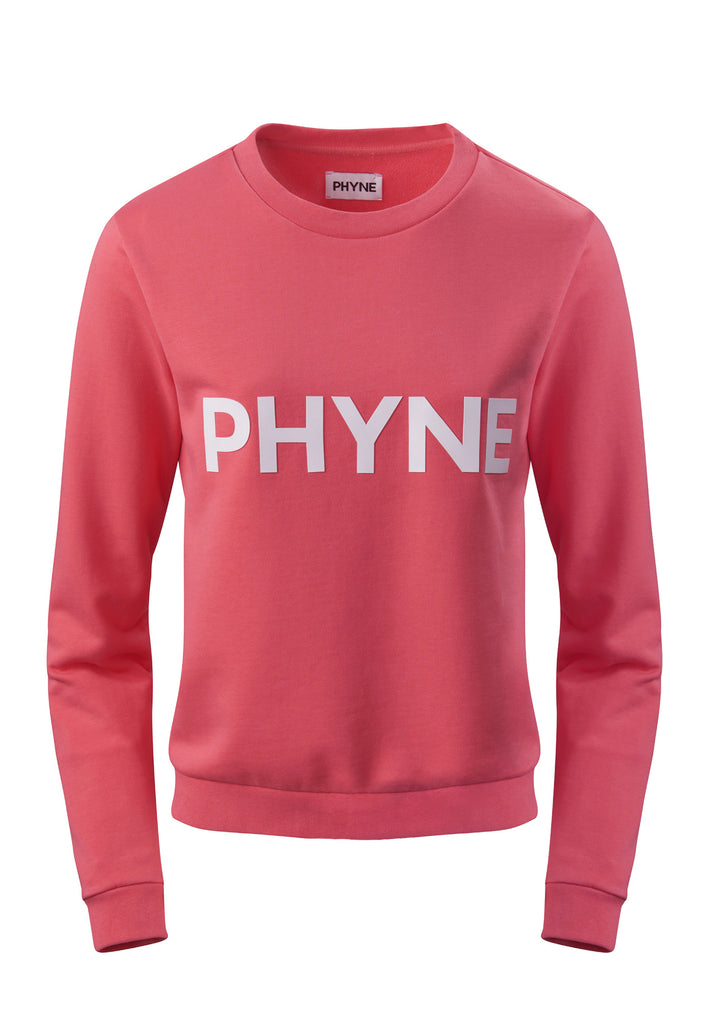 The PHYNE Statement Sweatshirt in Coral