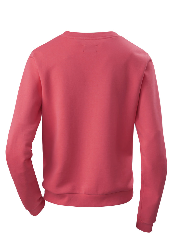 The PHYNE Statement Sweatshirt in Coral Rückansicht