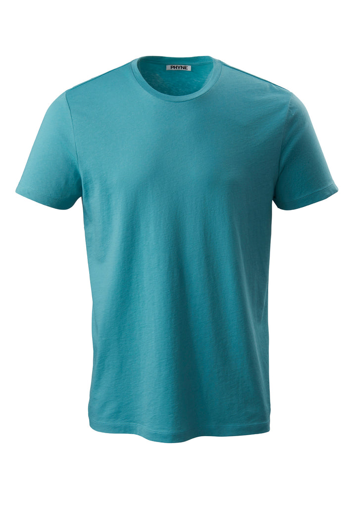 Turquoise| Round Neck T-Shirt türkis