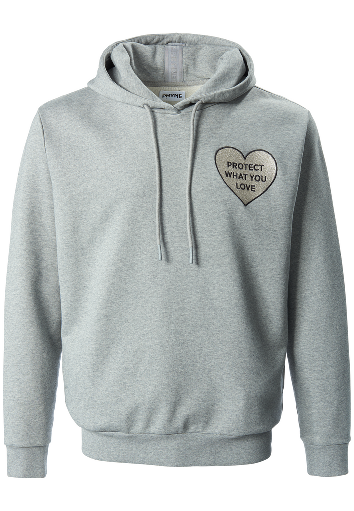 PROTECT WHAT YOU LOVE Unisex Hoodie von PHYNE in grau