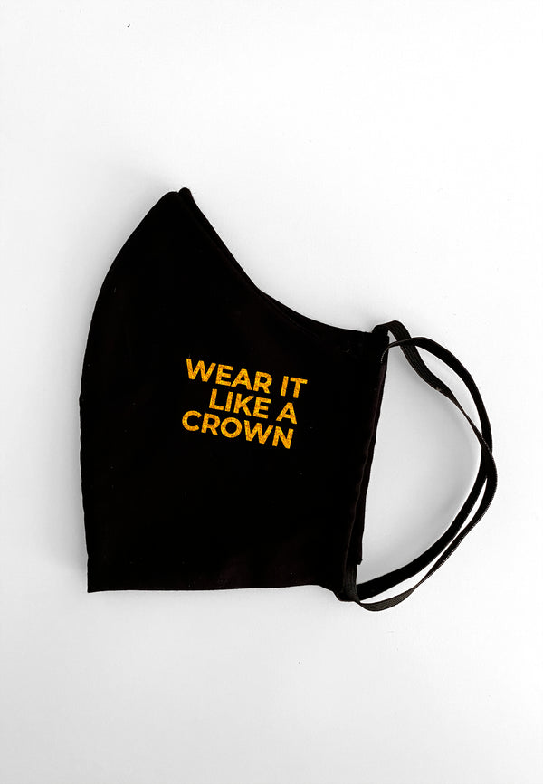Maske Wear it like a Crown Black/Gold