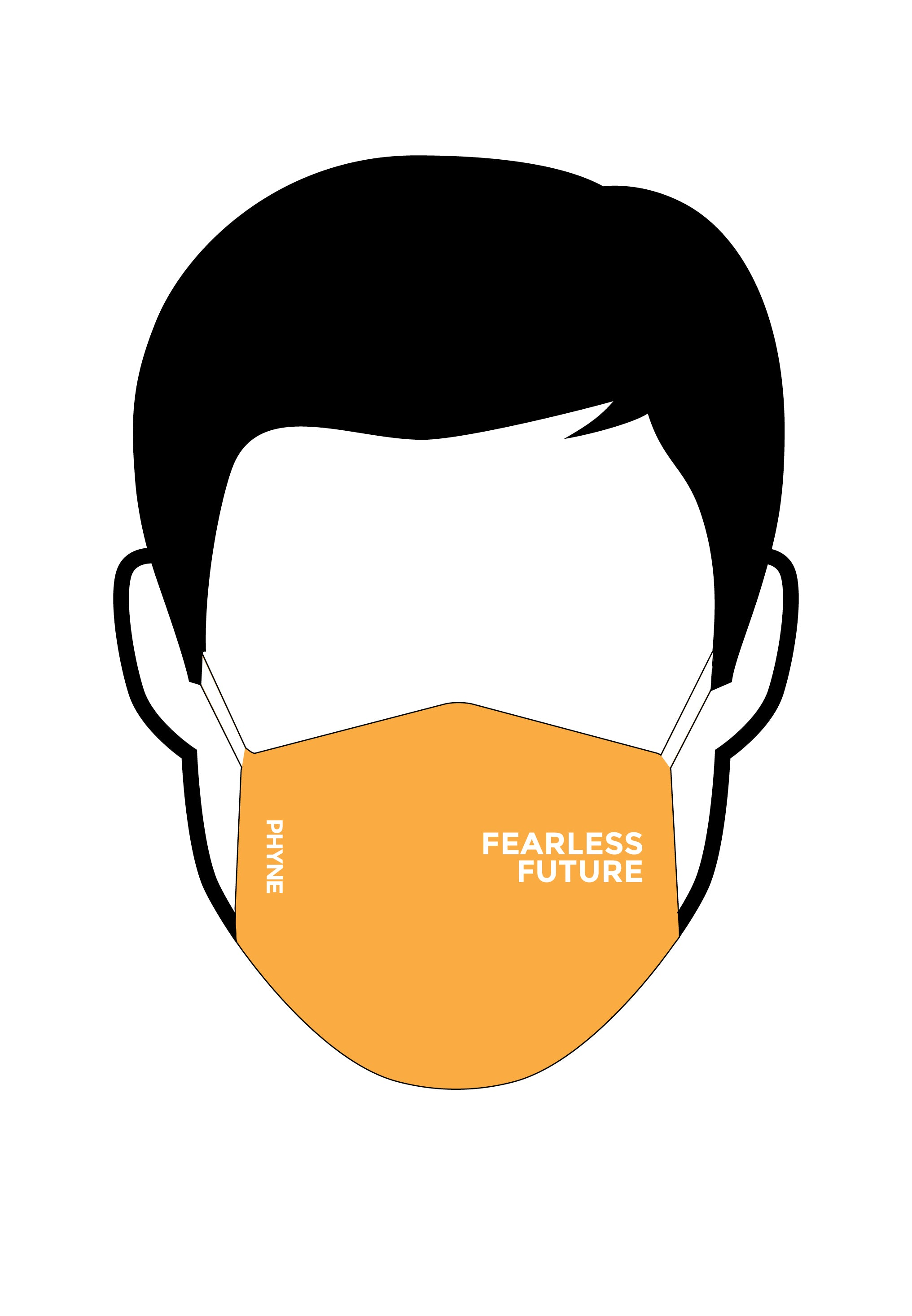 Maske Fearless Future Orange
