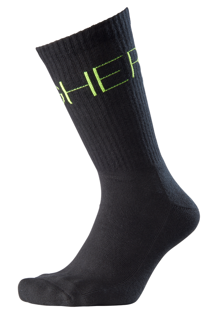 "[""NZINGA Tennis Socken by Nikeata Thompson \""HIGHER\""""]"