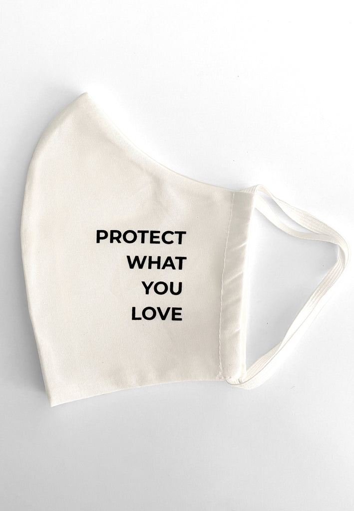 Maske Protect What You Love White