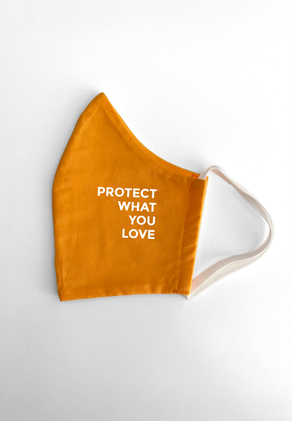 Maske Protect What You Love Orange