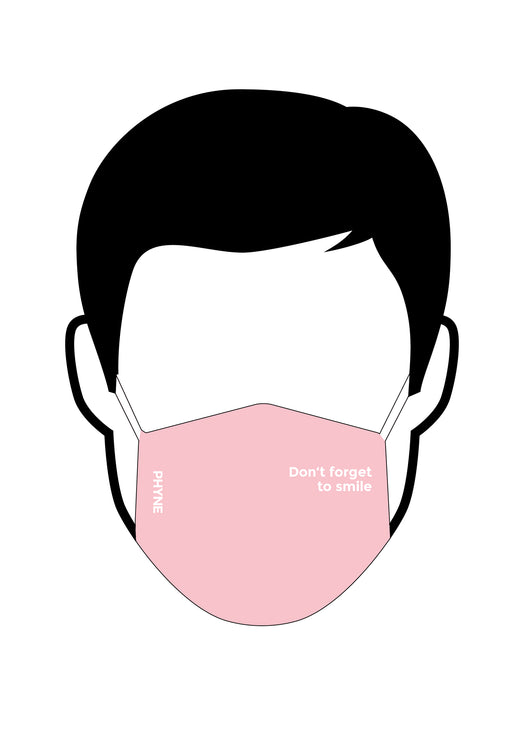 Maske Don't Forget To Smile Pink
