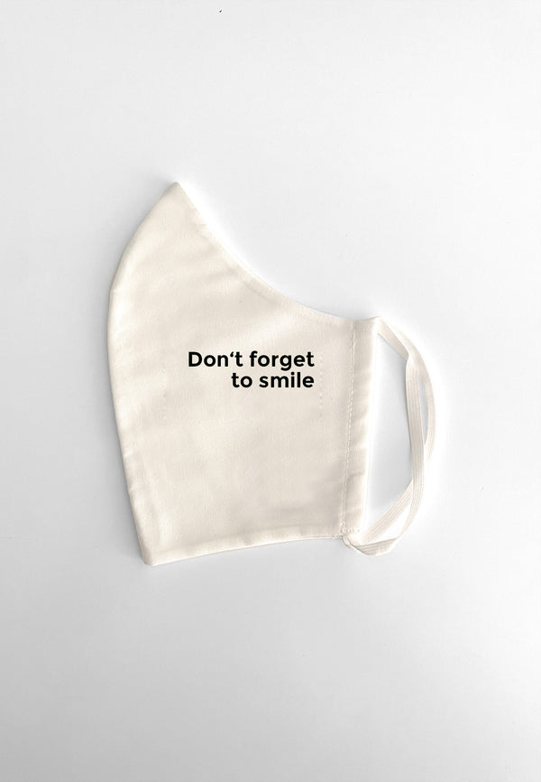 Maske Don't Forget To Smile White