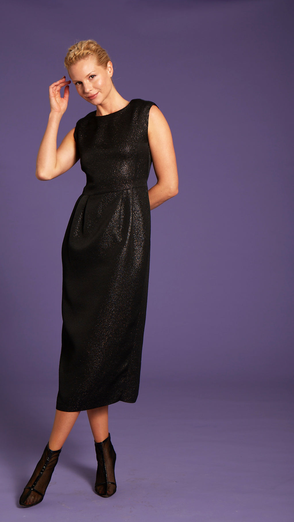 """Heidi"" Black Recycled Dress"