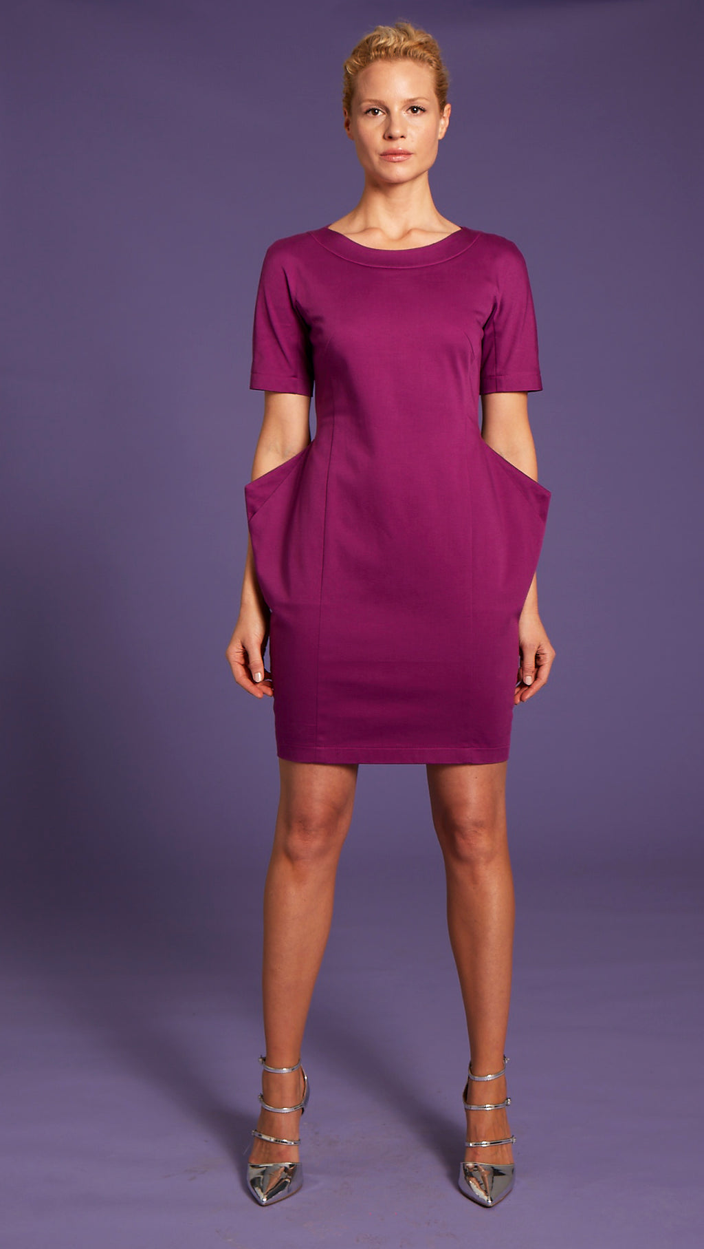 Organic Cotton Fuchsia Dress