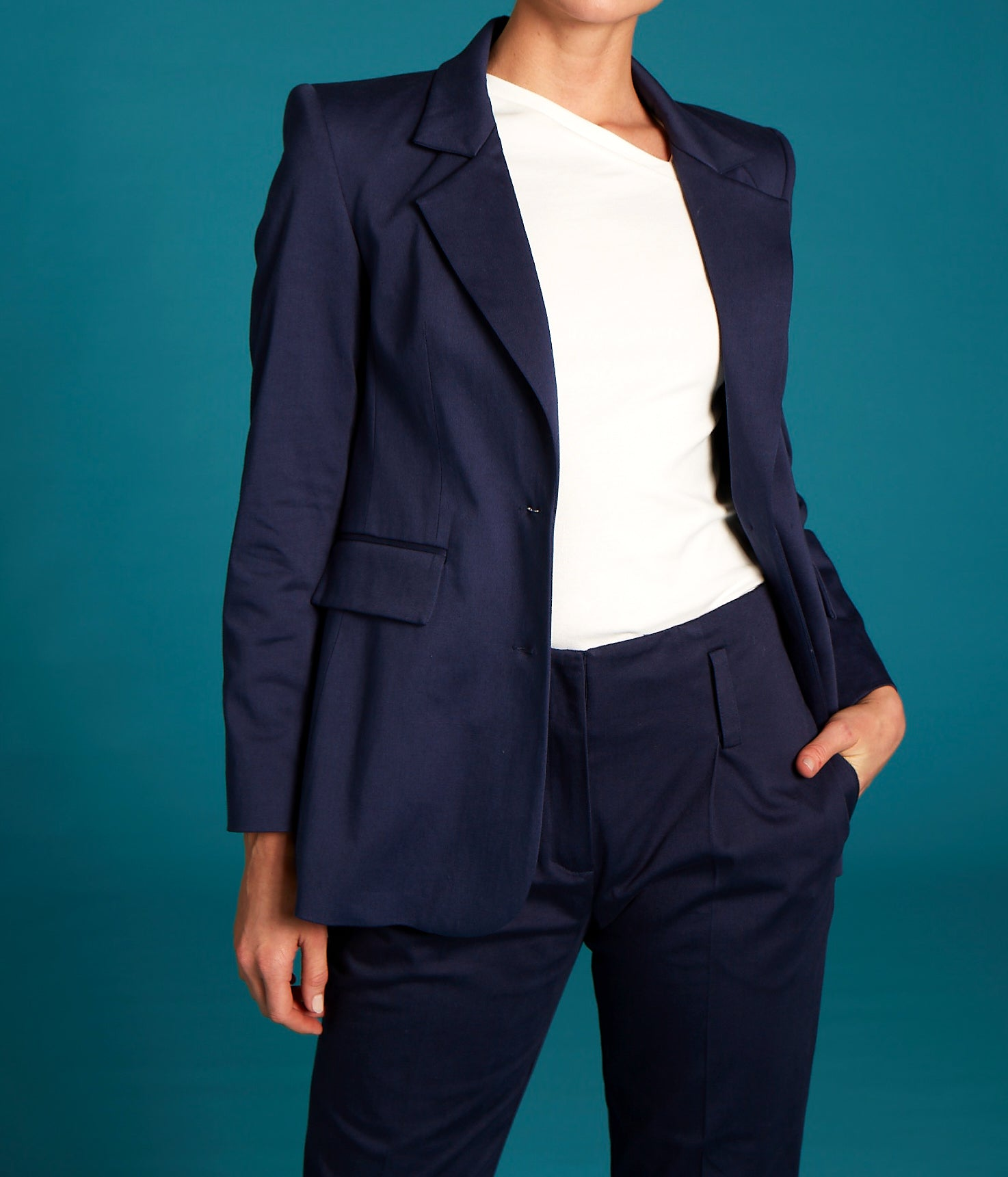 Organic Cotton Single Breasted Blazer