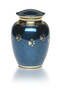 Pet Urn-Blue Marble-Classic Paws Medium