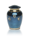 Pet Urn-Blue Marble - Classic Paws Small