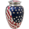 American Flag Brass Large-Cremation Urn